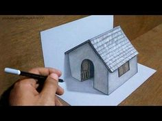 Drawing Absolutely Amazing Art That Looks So Real - Slydor - Your Daily Dose Of Fun. - artwork can be done by computers nowadays but doing it with your bare hands is really an amazing art itself. 3d Pencil Drawings, 3d Art Drawing, Drawing Skills, Easy Drawings, 3d House Drawing, Illusion Drawings, Illusion Art, Sketch Paper, 3d Sketch
