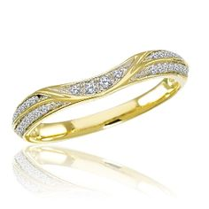 Explore examples of our curved diamond wedding bands. They're perfect if the center stone of an engagement ring sticks out, to eliminate a ring/band gap. Curved Wedding Band, Diamond Wedding Bands, Band Rings, Diamonds, Rose Gold, Engagement Rings, Rock, Stone
