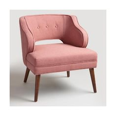 Cost Plus World Market Rose Pink Tyley Chair ($260) ❤ liked on Polyvore featuring home, furniture, chairs, pink, midcentury furniture, mid century modern furniture, cost plus world market, roses furniture and midcentury modern chair