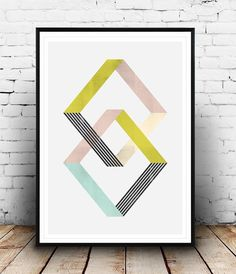 Geometric art print, abstract poster, minimalist art, Scandinavian art, Home decor, Abstract wall art, Geimetric design, Simple art,