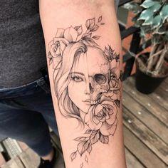 Over 150 Forearm Tattoos For Girls - tatoo feminina - tattoo feminina Hand Tattoos, Body Art Tattoos, Sleeve Tattoos, Female Tattoos, Floral Skull Tattoos, Tattoo Floral, Arabic Tattoos, Female Tattoo Sleeve, Skull Thigh Tattoos