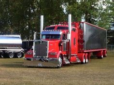 Trucks and Rigs and all jacked up things! Show Trucks, Big Rig Trucks, Vw Vintage, Vintage Trucks, Custom Big Rigs, Custom Trucks, Custom Trailers, Train Truck, Peterbilt Trucks