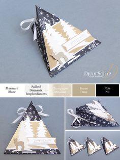 Tutoriel Boîte Triangle Noël «Thinlits Mon Recto de Carte» – Djudiscrap
