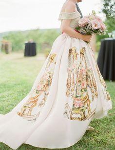 Printed Wedding Dress from Miklosko Fashion Design