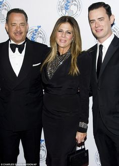 Tom Hanks, Rita Wilson (wife) & Colin Hanks (son):