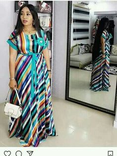 Online Shop 2019 African dress for women fashion robe africaine femme ankara dress long loose stripe maxi african jumpsuit african clothing Long African Dresses, Latest African Fashion Dresses, African Print Dresses, African Clothes, Ankara Dress Styles, Plus Size Kleidung, Striped Maxi Dresses, African Attire, African Jumpsuit