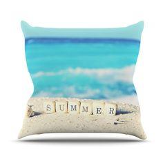 Summer at the Beach Throw Pillow