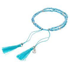 LC Lauren Conrad Birth Month Tasseled Slipknot Bracelet, Women's, Turq/Aqua