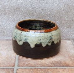 Spaniel Bowl Long Eared Ears Dog Water Food Hand Thrown Stoneware Pottery by Caractacus Pots on Gourmly