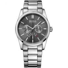 c481b2892b2 Hugo Boss Men s Charcoal Day Date Dial Heritage Watch 1513127 Ure Til Mænd