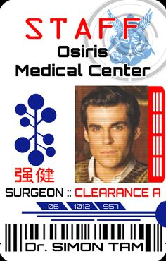 Simon Tam ID <--ok, creeped out time. I just learned in school that Osiris was the Egyptian god of death...