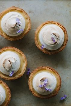 lemon maple meringue pies