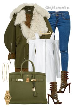 """So colddd"" by highfashionfiles ❤ liked on Polyvore featuring Kori, Balenciaga, Giuseppe Zanotti, Vera Wang, Hermès, Jennifer Fisher, Jennifer Meyer Jewelry and Rolex"