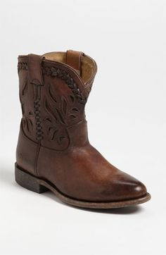 I want these...Frye 'Wyatt Overlay' Short Boot available at #Nordstrom. First thought, who spends that much on shoes; but my second thought, is how can a girl be a born and raised Texan without owning Cowgirl boots!?