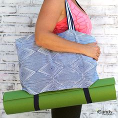 DIY: simple yoga tote with mat straps