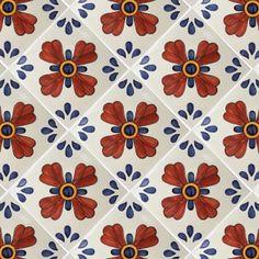 12x12 Blue Seville Terra Nova Hand Painted Floor Tile