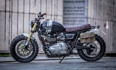 Triumph T100 Scrambler - Down & Out Cafe Racers #motorcycles #scrambler #motos | caferacerpasion.com