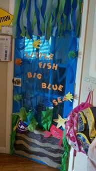Ocean for classroom quotes school themes preschool door under the sea decorations decorating ideas . under the sea ocean theme classroom Classroom Decor Themes, Classroom Quotes, Classroom Door, Classroom Ideas, Classroom Displays, Class Decoration, School Decorations, Ocean Themes, Beach Themes