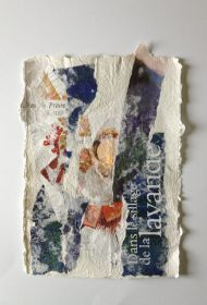 "Bettina Bradt, ""Savoir-vivre"", Papiercollage, handgeschöpft"
