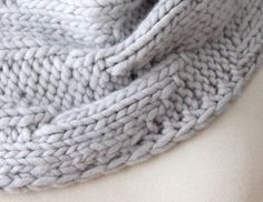 Knitting Pattern Cowl Geometric Cowl Grey