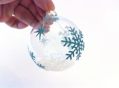 DIY: Glitter ornaments. (If you're ready!)