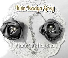Twin Nadya Grey PRICE IDR 30K  HOW TO ORDER SMS/WA +62857 2910 9277 BBM 7FBDA1F9  #brooch #bros #broscantik #hijabers #bross #aksesorishijab #brosjilbab #aksesorisjilbab