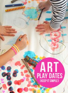 Kids Art Idea: Hosting Art Play Dates for Kids of All Ages - Lesson 1 - Keep it simple