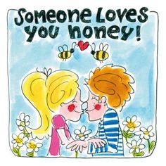Verliefd koppel geeft elkaar een kus- Greetz