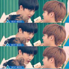 i'm inlove with how baejin holds jihoon's nape    #PRODUCE101 #프로듀스101 #WinkDeep #박지훈 #ParkJihoon #배진영 #BaeJinyoung