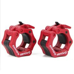 Weightlifting Barbell Clamp Collar BY POWER GUIDANCE Quick Release Pair of Locking 2 Olympic Bar Great for Cross Fitness Training Red >>> For more information, visit image link. (This is an affiliate link) No Equipment Workout, Workout Gear, Fun Workouts, Fitness Equipment, Squat Machine, Weight Lifting Bar, Shoulder Training, Barbell Weights, Collar Clips