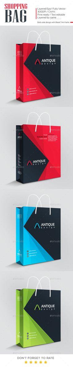 Antique Design Shopping Bag