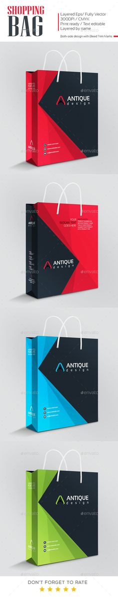 Antique Design Shopping Bag - #Packaging Print Templates Download here: https://graphicriver.net/item/antique-design-shopping-bag/10926294?ref=alena994
