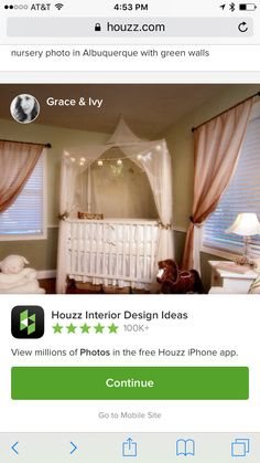 Houzz Interior Design, Nursery Paint Colors, Nursery Paintings, T 4, Toddler Bed, Curtains, Wall, Furniture, Home Decor