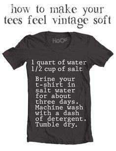 Make Your Tees Feel Vintage Soft