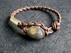 Bracelet Leather  braided friendship mens buffalo by celtsmith, $35.00