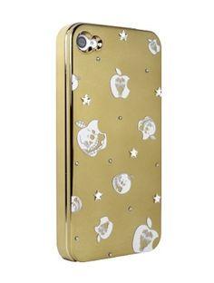Gold Skull Apple for iPhone4/4S