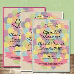 Hey, I found this really awesome Etsy listing at https://www.etsy.com/listing/199009119/up-balloon-bridal-shower-invite-5x7-or