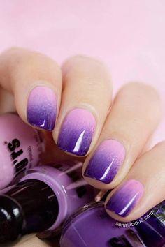 violet nails(: