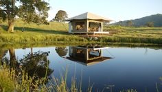 Donny Brook Eco Retreats lonely Deluxe Eco Tent has just received 2 more to keep her company! Watch this space, Glamping Kangaroo Island, Luxury Tents, Water Storage, Weekends Away, Aquaponics, Water Garden, Architecture, Glamping, Australia