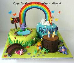 """Winnie cake Cree par : """" Les gateaux d Ingrid """" ( facebook"""