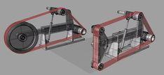 New Machine Build KMG clone belt grinder ( pics ) Knife Grinding Jig, Knife Grinder, 2x72 Belt Grinder Plans, Welding Shop, Welding Tools, Knife Making Tools, Blacksmith Tools, Metal Shop, Homemade Tools