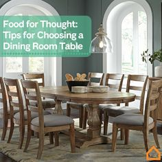 We offer a few suggestions to help you find a dining room table you're sure to savor.