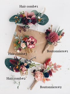 Excited to share this item from my shop: Flower Hair comb Fall hair comb Burgundy Wedding hair comb Bridal flower hair piece Wedding headpiece Oramge wedding hair comb Wedding Hair Flowers, Hair Comb Wedding, Wedding Hair Pieces, Bridal Flowers, Flowers In Hair, Bridal Hair Vine, Bridal Hair Combs, Bridal Headpieces, Wedding Dresses