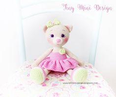 Crochet Animals, Crochet Toys, Crochet Baby, Knit Crochet, Cat Pattern, Free Pattern, Amigurumi Patterns, Crochet Patterns, Lalaloopsy