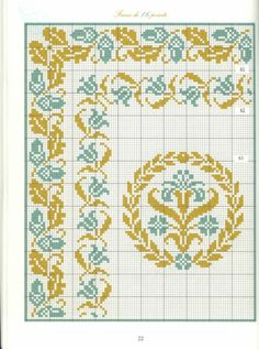 Borders in cross stitch 11 Cross Stitch Art, Beaded Cross Stitch, Cross Stitch Borders, Crochet Borders, Cross Stitch Samplers, Cross Stitch Flowers, Cross Stitch Designs, Cross Stitching, Cross Stitch Embroidery