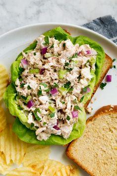 Tuna Salad Easy Tuna Salad, Best Tuna Salad Recipe, Easy Salad Recipes, Easy Salads, Tuna Recipes, Seafood Recipes, Healthy Foods To Make, Good Healthy Recipes, Healthy Snacks