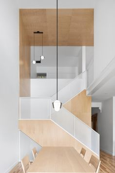 Home Interior Scandinavian Des rables Residence by _naturehumaine - Design Milk.Home Interior Scandinavian Des rables Residence by _naturehumaine - Design Milk New Staircase, Modern Staircase, Staircase Design, Staircase Metal, Architecture Design, Residential Architecture, Home Interior, Interior Decorating, Simple Interior