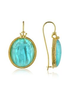 Three Graces - 18K Gold Mother of Pearl Cameo Earrings