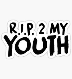 RIP Youth White T Shirt New Official Band Merch NBHD The Neighbourhood R.I.P