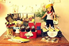 American Girl Doll in Paris themed birthday party
